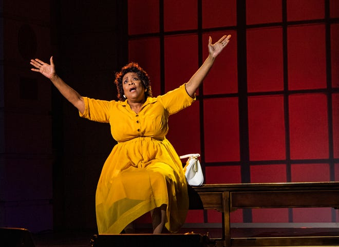 "E. Faye Butler plays civil rights activist Fannie Lou Hamer in the Asolo Repertory Theatre premiere of Cheryl L. West's ""Fannie: The Music and Life of Fannie Lou Hamer."""