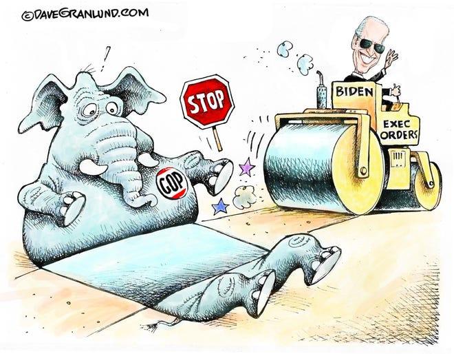 Granlund cartoon: Biden rollout