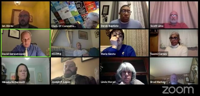 Screenshot of Cannabis Committee meeting in New Bedford, Feb. 18, 2021.