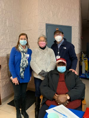 From left: Kim Blanch, Beebe Healthcare; Natosha Carmine, Chief of the Nanticoke Indian Association; Beebe Healthcare President and CEO David Tam; and Bernice Edwards, First State Community Action Agency.