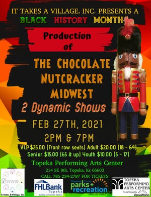 """The Chocolate Nutcracker"" will take place at 2 p.m. and 7 p.m. Feb. 27 at the Topeka Performing Arts Center."