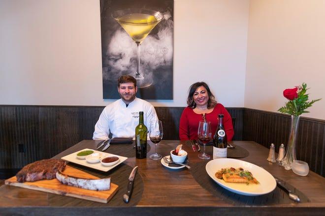 Chef Tony Molinaro, left, and Twenty One Steak general manager Toni Orozco-Joyce on Thursday February 18, 2021