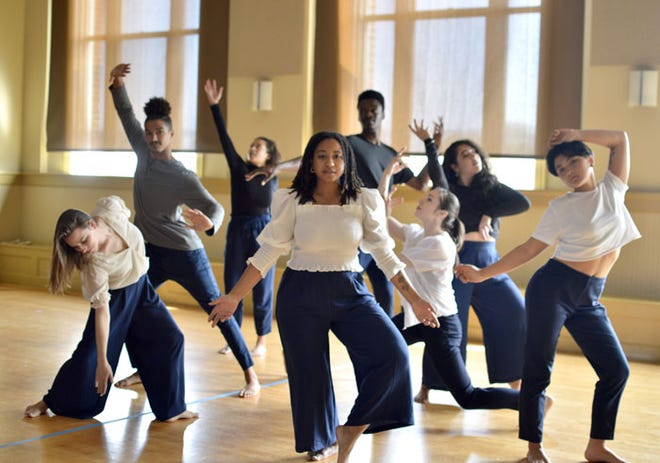 Cambridge Arts and the city of Cambridge recently awarded Art for Racial Justice grants to nine projects in Cambridge. Among the recipients of the awards was Victoria Lynn Awkward. Pictured, are VLA dance members, including Victoria Awkward, Olivia Blaisdell, Mitzi Eppley, Tabitha Hanay-Reaves, Michayla Kelly, Sarah Pacheco, Theophile Victori and Adam Wertheimer.