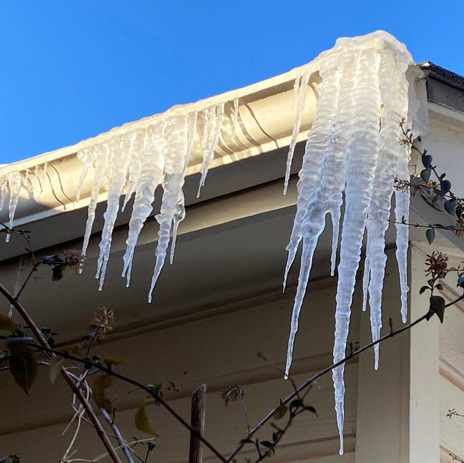 With some melting Thursday, Abilenians woke Friday to find fang-like icicles hanging from rooflines. The high Friday was expected to reach the 40s, breaking freezing for the first time since Feb. 9.