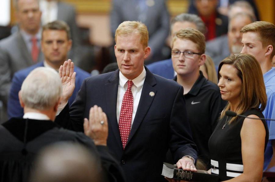 Rep. Ryan Smith is sworn in as Ohio Speaker of the House in June 2018.