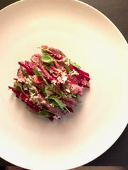 A beef and beet dish from chef Javier Bardauil.