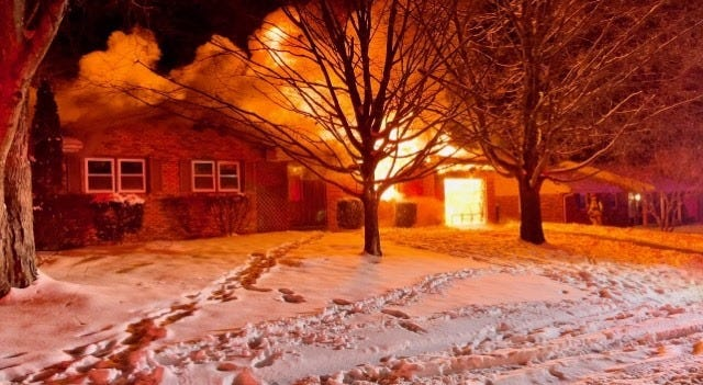 The Henderson Fire Department battled a blaze at a Trail Drive residence early Friday morning (Feb. 19, 2021).