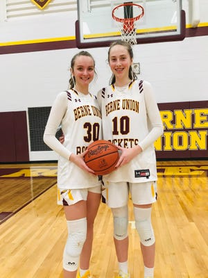 Berne Union sisters, Bella and Sophia Kline have forged a tight bond on the court the last two years and helped lead the Lady Rockets to a 46-3 overall record during that time, as well as a No. 2 state ranking.