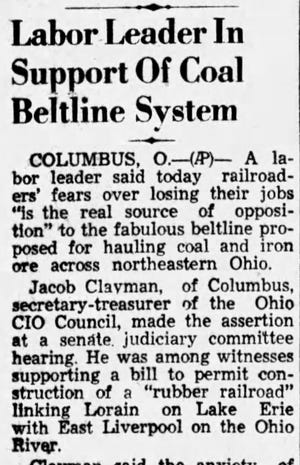 This story was published in the February 13, 1951 Lancaster Eagle-Gazette.