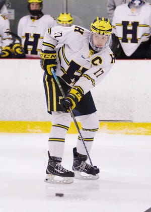 Hartland's Andrew Larson had one goal and three assists in an 8-0 victory over Grand Rapids Forest Hills Central.