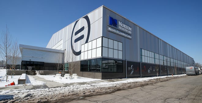 The Norton Healthcare Sports & Learning Center at 30th and W. Muhammad Ali Blvd on Friday, February 19, 2021