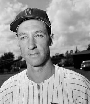 Wayne Terwilliger, infielder of Washington Senators, poses March 1, 1953, Charlotte, Mich.