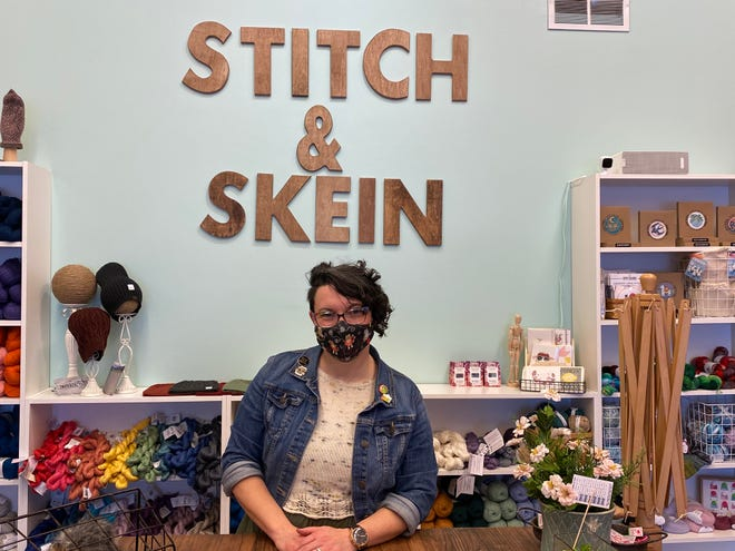 Candice DeWitt, of Marion, is the owner of Stitch and Skein, an arts and crafts shop that recently opened in downtown Marion.