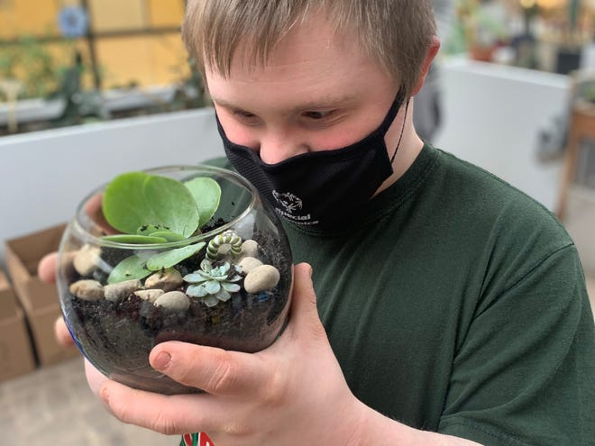 Students at Muncie Central High School were able to build and maintain their own terrarium with a Robert P. Bell Education Grant's support.