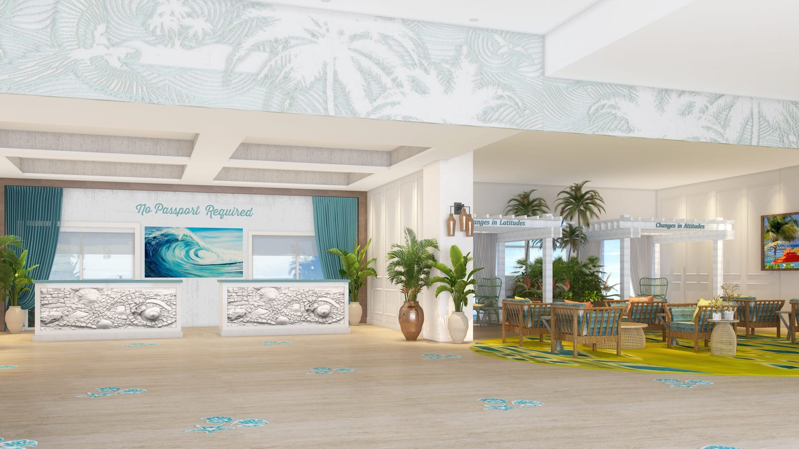 Latest renderings in February 2021 of Southwest Florida's planned Margaritaville resort.
