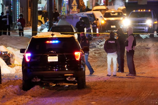 Police at the scene of a fatal shooting in Paterson's 6th Ward on Thursday, Feb. 18, 2021.