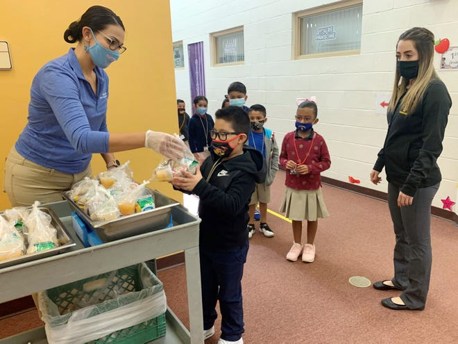 Whether at home or in school, Asheboro City Schools provided meals for children in need.