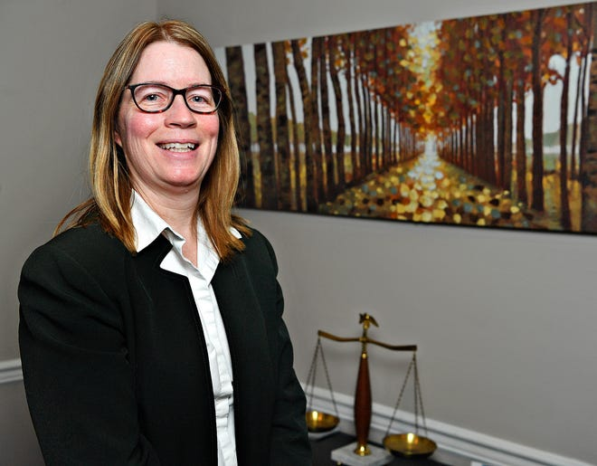 Attorney Suzanne Smith is photographed at Kearney Galloway Graybill, LLC in York City, Friday, Feb. 19, 2021. Dawn J. Sagert photo