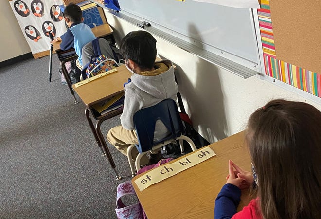 A photo from inside a WCSD classroom
