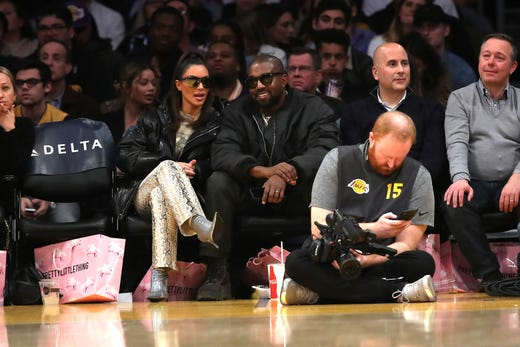 Pre-pandemic, the pair enjoyed court-side seats at a Lakers game in Los Angeles on Jan. 13, 2020.
