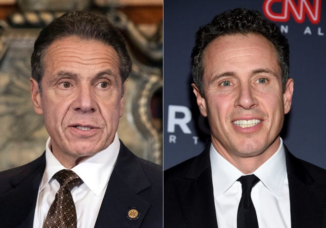 New York Gov. Andrew M. Cuomo and CNN anchor Chris Cuomo.