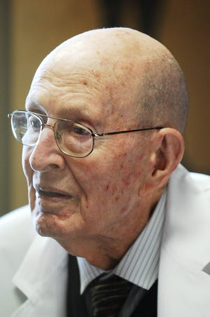 """It's estimated the late Dr. W.G. """"Curly"""" Watson, pictured in February 2010, delivered more than 50,000 babies over a 50-year span, mostly at Augusta's University Hospital."""