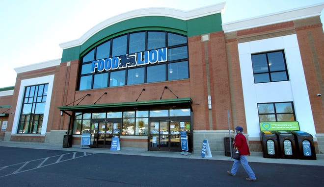 Exterior of the new Food Lion on South New Hope Road Saturday morning, Feb. 20, 2021.