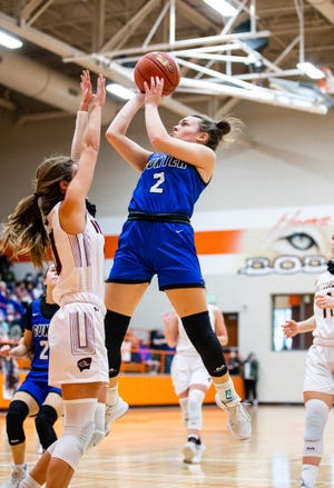 Gunter's Taylor Boddie was one of four Lady Tigers in double figures during a win over Whitesboro in a 3A Region II area round contest.