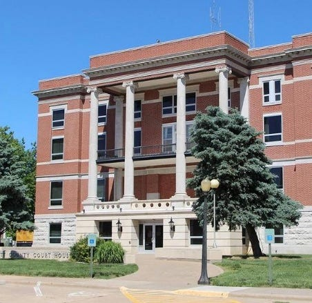 Pratt County Courthouse is the site of weekly commission meetings, usually Mondays at 4 p.m.