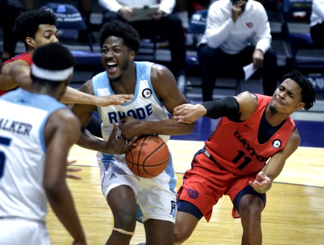 The last URI home game of the season was a dramatic victory over Dayton. It was also the last on the home bench at the Ryan Center for assistant coach Kevin Sutton, who is leaving the program.