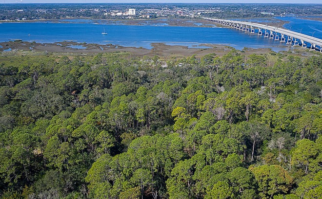 Fish Island Preserve, the site of early St. Augustine resident Jesse Fish's plantation, is on Anastasia Island east of the State Road 312 bridge on the Matanzas River.