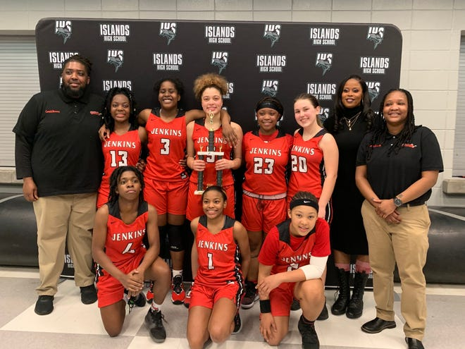 The Jenkins girls basketball team defeated Islands 49-37 for the Region 3-4A tournament title on Friday night at Islands High School.