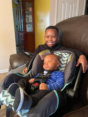 Dwight Clarke III, 8, and his 9-month-old brother, Sebastian Hagler, had been missing since Friday but have been found. [Contributed photo]