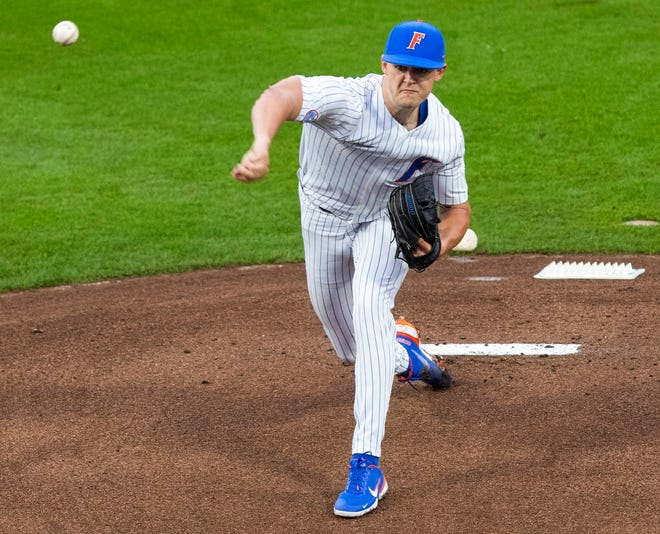 Florida starting pitcher Tommy Mace had a solid start Friday against Miami, allowing only one run on three hits in five innings, while striking out eight and issuing two walks. He left with a 4-1 lead.