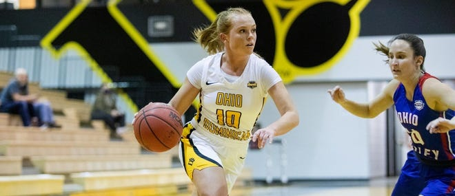 Kennedy Schlabach recorded the most assists in a season for Ohio Dominican.