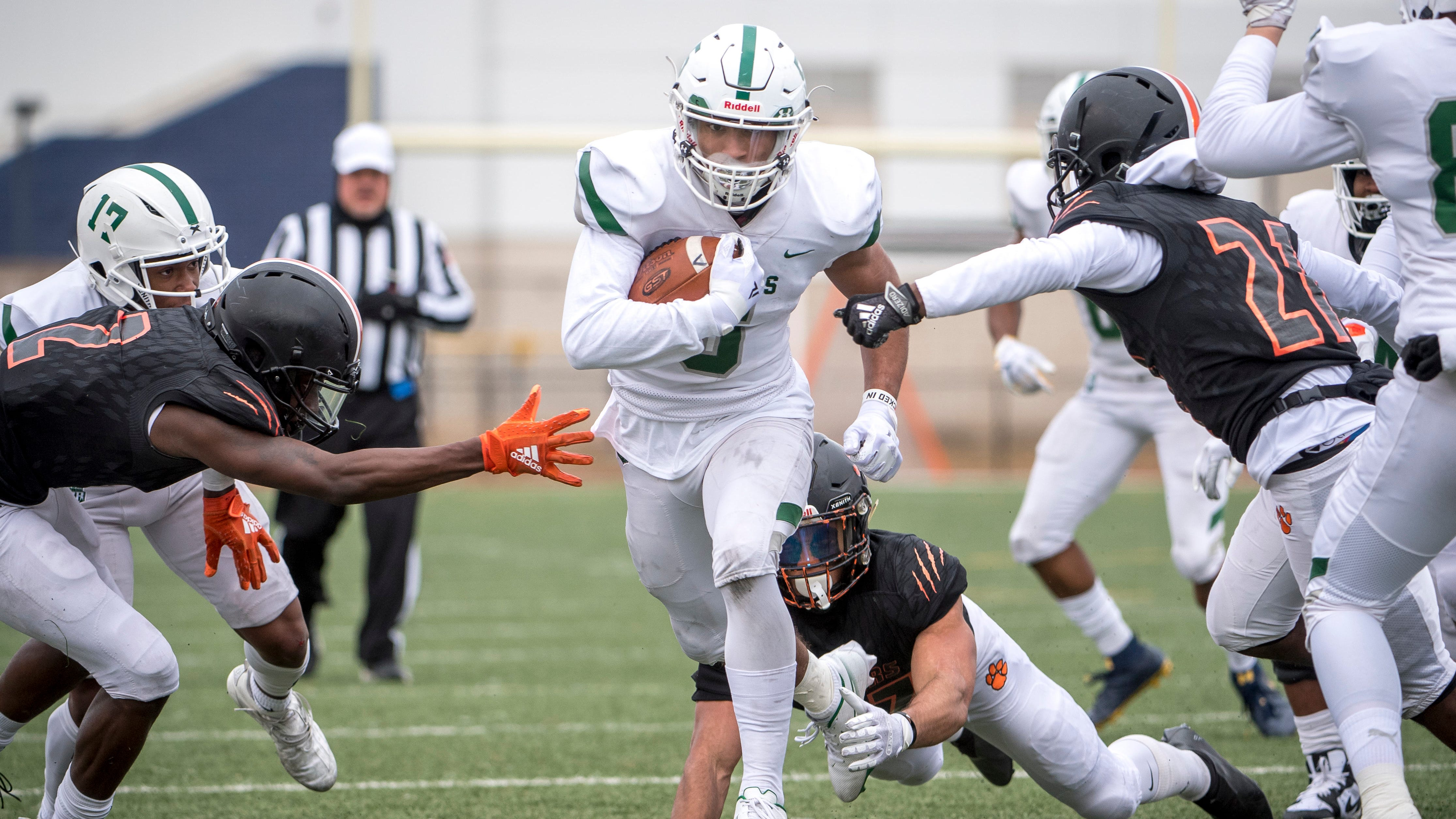 Junior Dillon Tatum (5) excelled in a number of roles for state champion West Bloomfield last season.