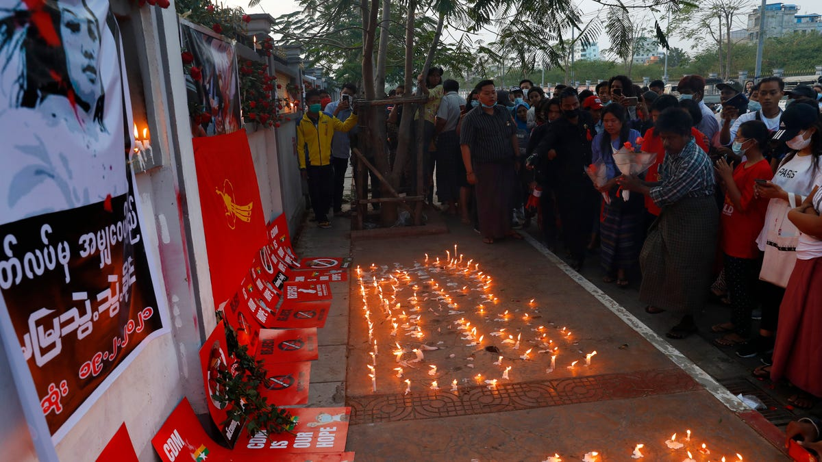 Woman shot during protest against Myanmar coup dies 3