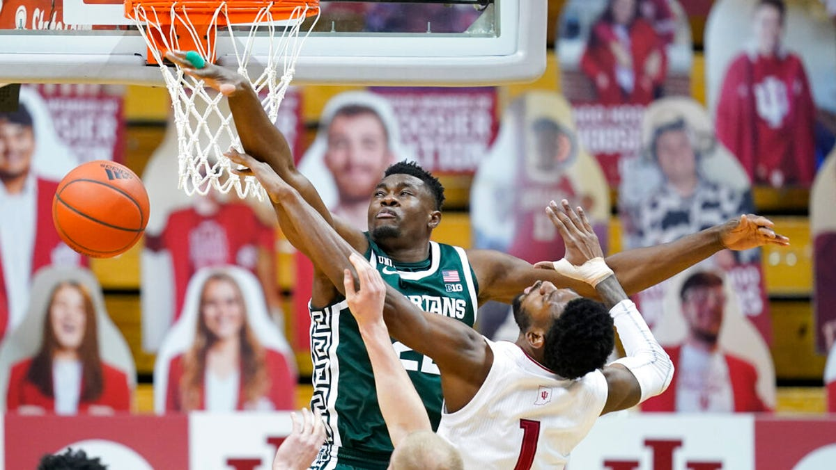 Michigan State hits reverse, shines through for 78-71 victory at Indiana 1