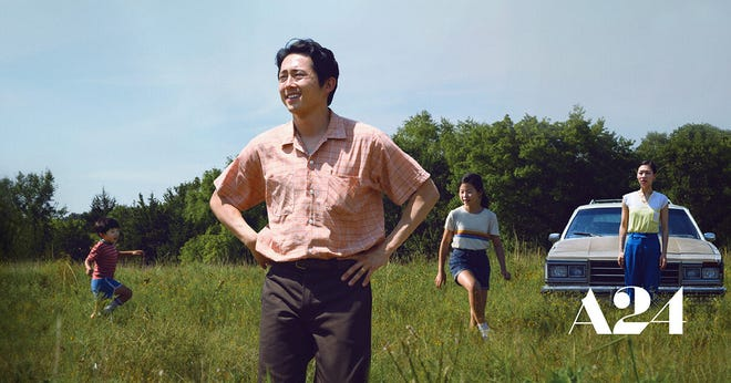"""""""Minari"""" stars Steven Yeun as Jacob Yi, a dedicated father looking to provide his family with a rich and happy life in America. """"Minari"""" releases on video on demand on Feb. 26."""