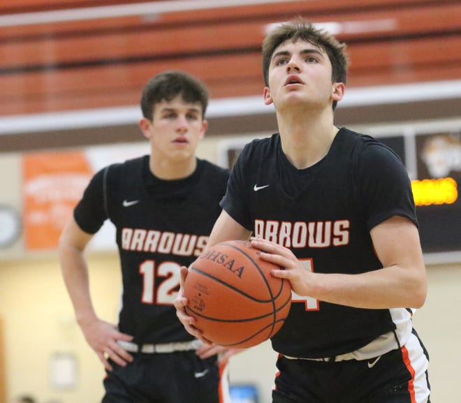 Ashland's Luke Denbow was named the 2020-21 Ohio Cardinal Conference boys basketball Player of the Year.