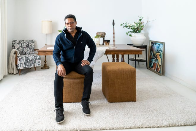 Rio Hamilton in the home that he grew up in and has co-owned with his mother since 2004. The house is now claimed by a corporate firm that has taken charge of his mother's life decisions and finances — without Rio's consent.
