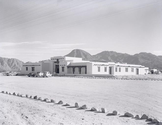A 1948 photo of the Harry Williams-designed Desert Magazine building in Palm Desert.