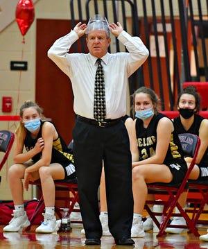 Delone Catholic girls' basketball head coach Gerry Eckenrode.