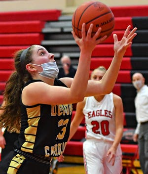Makenna Mummert, seen here in a file photo, scored 15 points on Wednesday in Delone Catholic's rout of Big Spring.