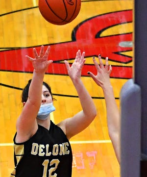 Delone Catholic's Giana Hoddinott is the York-Adams League Girls' Basketball Division III Player of the Year for a second consecutive season.