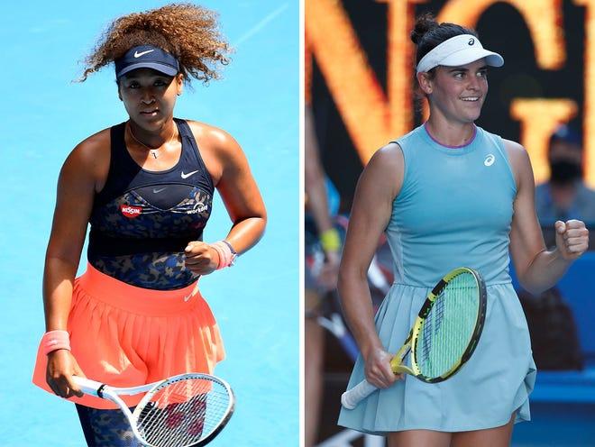 Naomi Osaka, left, will face Jennifer Brady, right, in the 2021 Australian Open women's singles final.