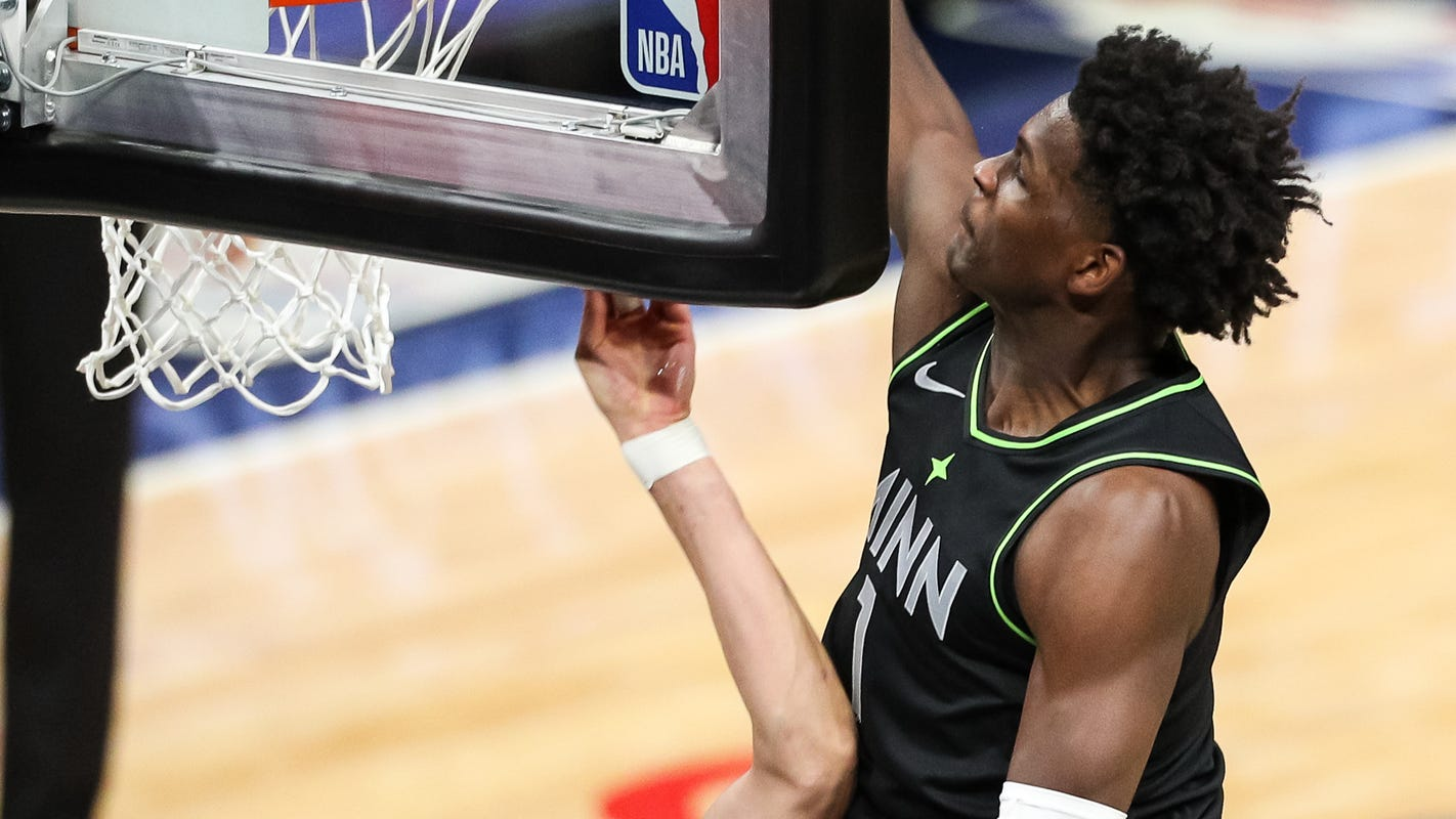 Jaw-dropping dunk is latest highlight for 'happy, loud and energetic' rookie Anthony Edwards - USA TODAY