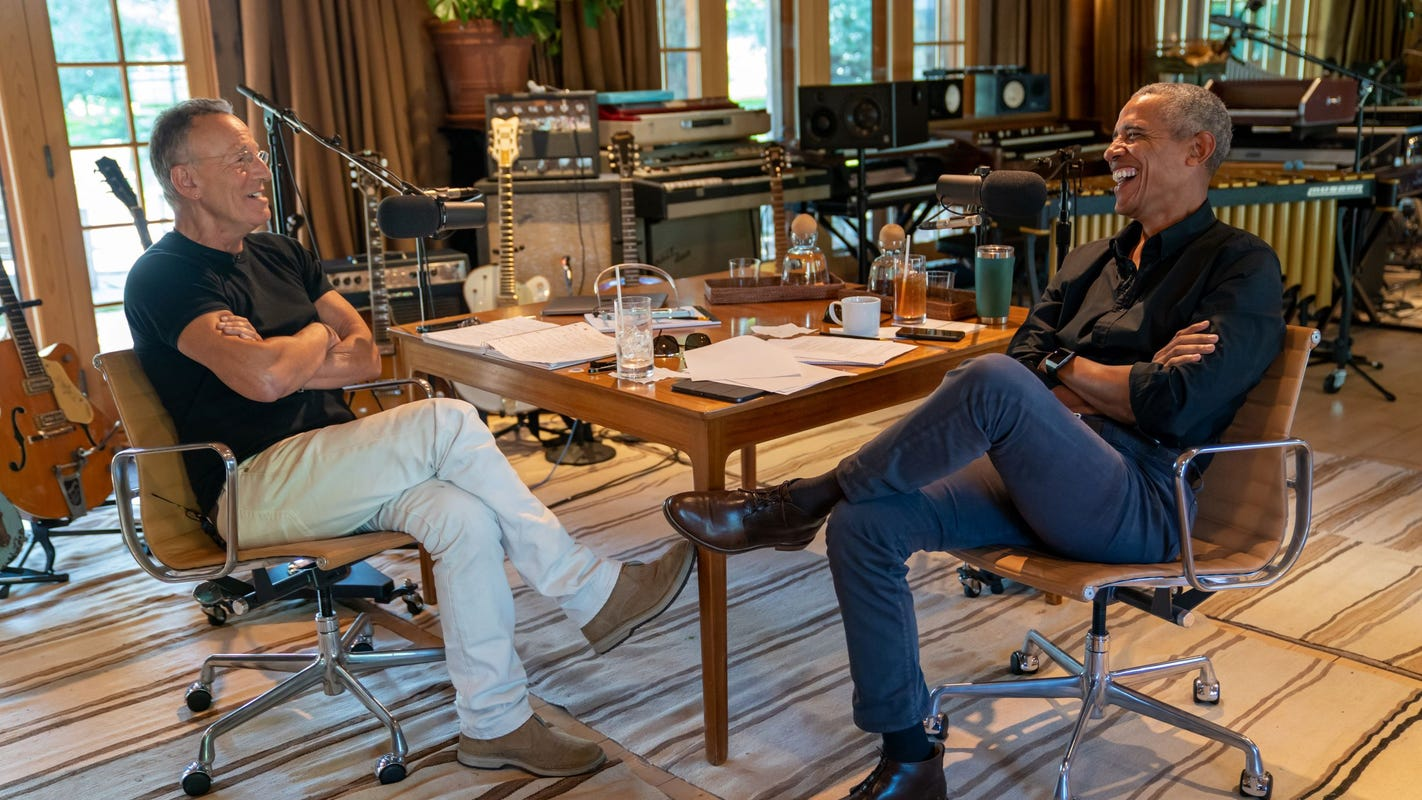 Barack Obama, Bruce Springsteen launch new Spotify podcast about their 'unlikely friendship'
