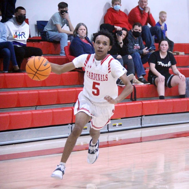 Springer's Malik Brown notched 12 of his game-high 20 points in the third quarter Saturday to help propel the Cardinals to a 50-31 win over Oklahoma School for the Deaf.