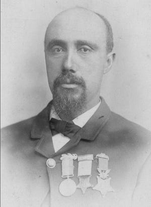 Massillonian Robert Pinn, one of four Ohio African Americans to earn the Congressional Medal of Honor during the American Civil War.